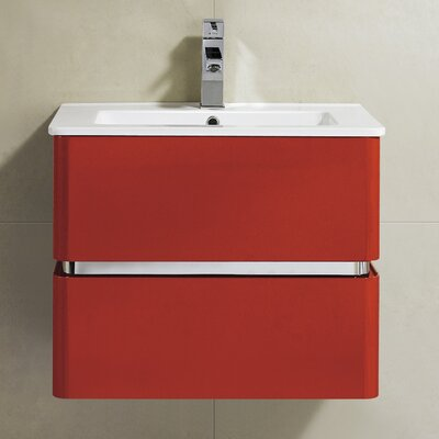 Sundance 24 Single Vanity Set Base Finish: Red