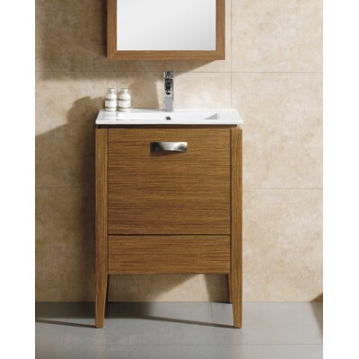 Manchester 24 Single Vanity Set Base Finish: Wheat