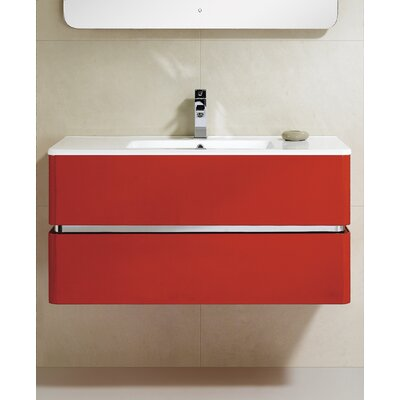 Sundance 40 Single Vanity Set Base Finish: Red