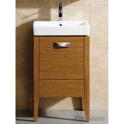 Manchester 20 Single Vanity Set Base Finish: Wheat