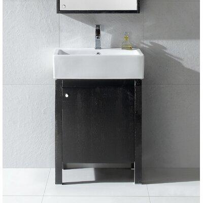 Imperial 24 Single Bathroom Vanity Set Base Finish: Black