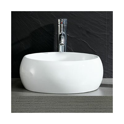 Modern Ceramic Circular Vessel Bathroom Sink