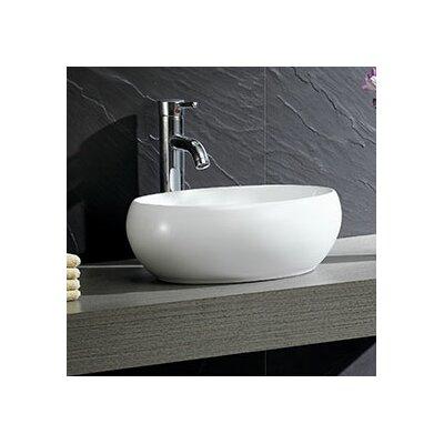 Modern Vitreous Circular Vessel Bathroom Sink