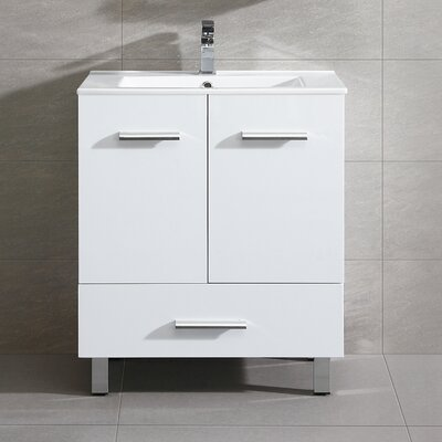 Kasen 35 Single Vanity Set Base Finish: White