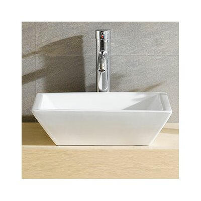 Modern Vitreous Bulging Square Vessel Bathroom Sink