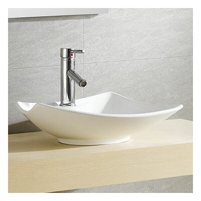 Modern Vitreous Bulging Specialty Vessel Bathroom Sink