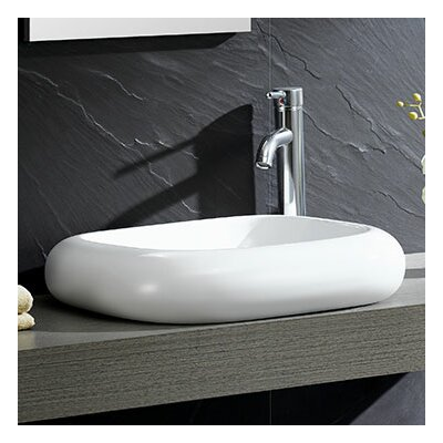 Modern Vitreous Curving Side Square Vessel Bathroom Sink