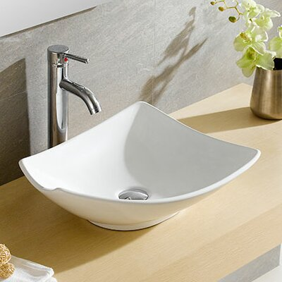 Modern Ceramic Specialty Vessel Bathroom Sink