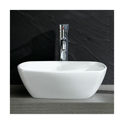 Modern Vitreous Square Vessel Bathroom Sink