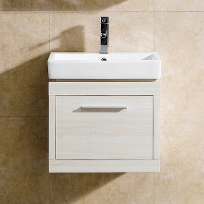 Glamour 20 Single Vanity Set Base Finish: White