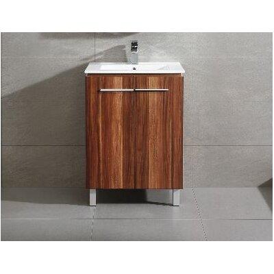 Briceno 24 Single Bathroom Vanity Set Base Finish: Black Walnut