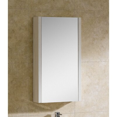 Modena 17.75 x 31.5 Surface Mount Flat Medicine Cabinet Finish: Off-White Grain