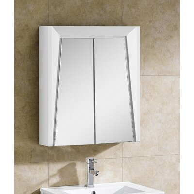 Imperial II 23.63 x 27.13 Surface Mount Medicine Cabinet Finish: White