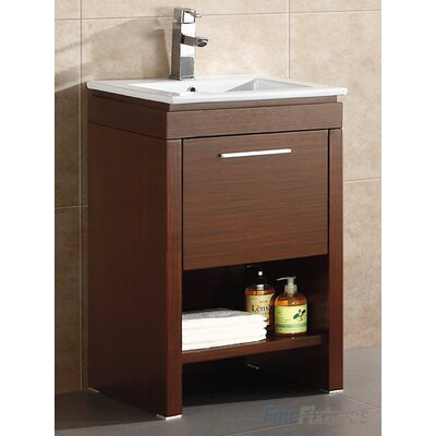 Modena 24 Single Bathroom Vanity Set Base Finish: Wenge