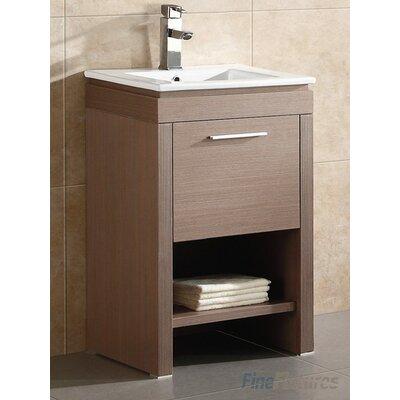 Modena 24 Single Bathroom Vanity Set Base Finish: Gray Oak