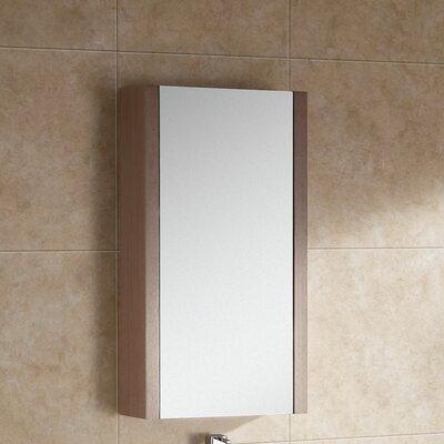 Modena 17.75 x 31.5 Surface Mount Flat Medicine Cabinet Finish: Gray Oak