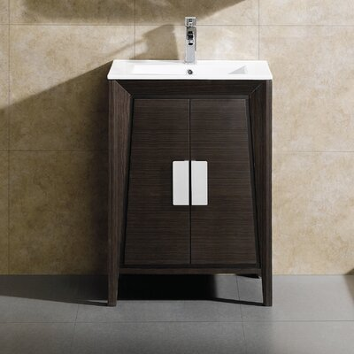 Imperial II Single Bathroom Vanity Set Base Finish: Ebony Wave