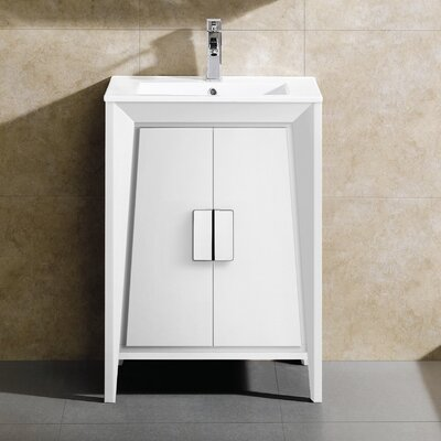 Imperial II Single Bathroom Vanity Set Base Finish: White