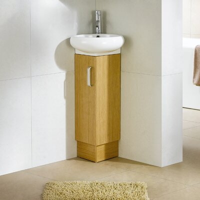 Milan 15 Single Vanity Set Base Finish: White Oak
