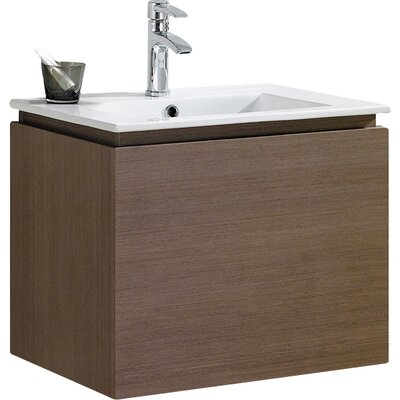 Lexington 24 Single Vanity Set Base Finish: Gray Oak