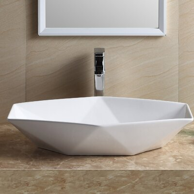 Modern Hexagon Sharp Square Vessel Bathroom Sink