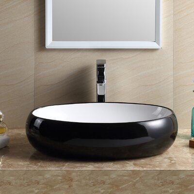 Modern Oval Bathroom Vessel Sink