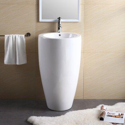 Vitreous China 20 Pedestal Bathroom Sink