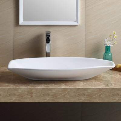 Modern Vitreous China Specialty Vessel Bathroom Sink