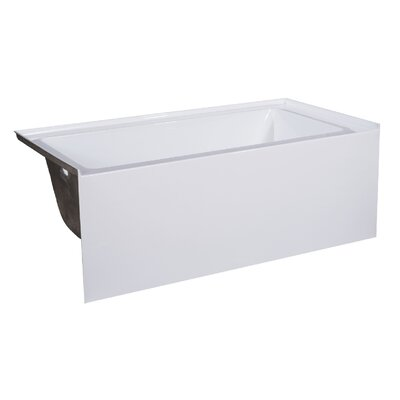 66 x 32 Soaking Bathtub Drain Location: Left