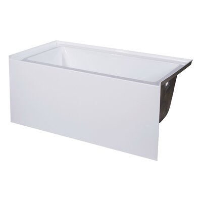 66 x 32 Soaking Bathtub Drain Location: Right