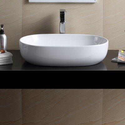 Modern Oval Bathroom Vessel Sink