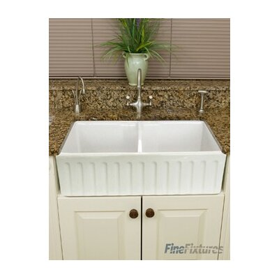 Snowdon 32.5 X 20 Farmhouse Double Bowl Kitchen Sink