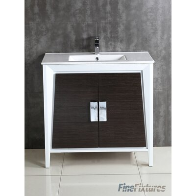 Imperial II 36 Single Bathroom Vanity Base Finish: Gray and White