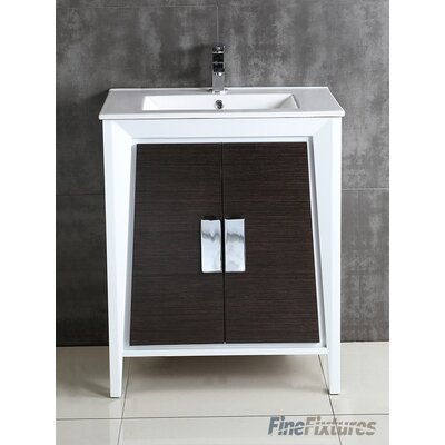 Imperial II Single Bathroom Vanity Set Base Finish: Gray and White