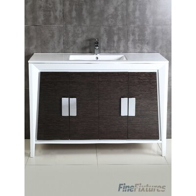 Imperial II 48 Single Bathroom Vanity Set Base Finish: Gray and White