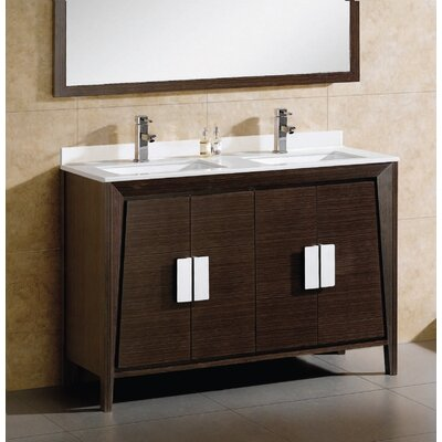 Imperial  II 60 Double Bathroom Vanity Set Base Finish: Ebony Wave