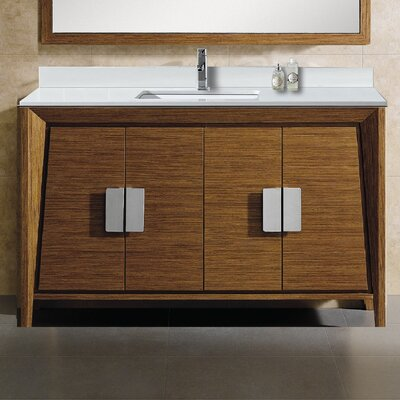 Imperial II 60 Single Bathroom Vanity Set Base Finish: Wheat