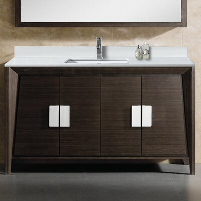 Imperial II 60 Single Bathroom Vanity Set Base Finish: Ebony Wave