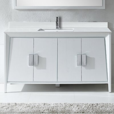 Imperial II 60 Single Bathroom Vanity Set Base Finish: White