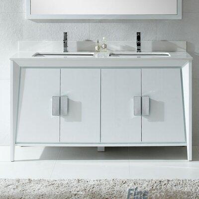 Imperial  II 60 Double Bathroom Vanity Set Base Finish: White