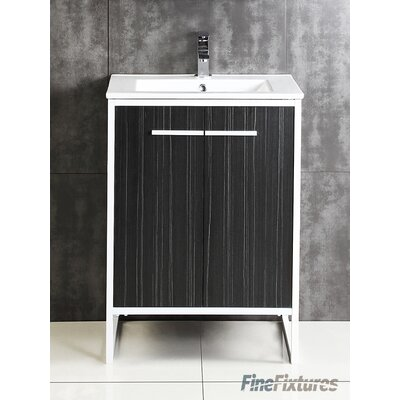 Vdara 24 Single Bathroom Vanity Set Base Finish: Dawn Gray
