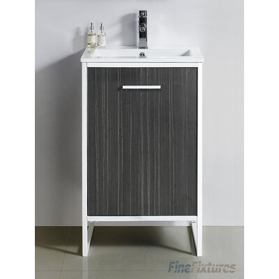 Vdara 20 Single Bathroom Vanity Set Base Finish: Dawn Gray