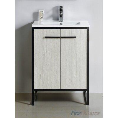 Vdara 24 Single Bathroom Vanity Set Base Finish: Silver Gray