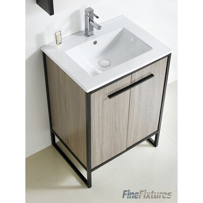 Vdara 24 Single Bathroom Vanity Set Base Finish: Gray Taupe