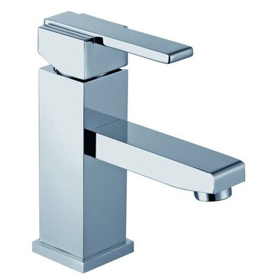 Contemporary Squared Single Handle Single Hole Vessel Lever Bathroom Faucet Finish: Polished Chrome