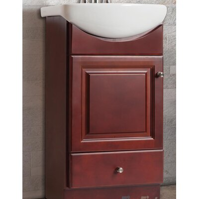 Petite 16 Single Bathroom Vanity Set Base Finish: Dark Cherry