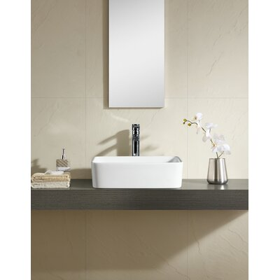Vitreous Rectangular Vessel Bathroom Sink