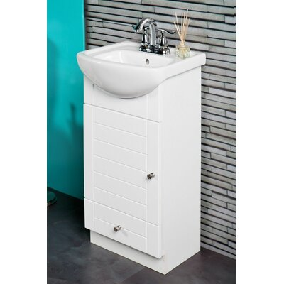 Petite 16 Single Bathroom Vanity Set Base Finish: White