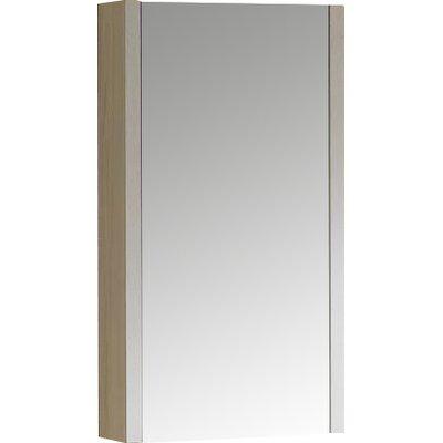 Modena 17.75 x 31.5 Surface Mount Flat Medicine Cabinet Finish: Off-White Grain