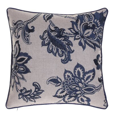 Flavien Embroidered French Country Throw Pillow Color: Indigo